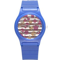 Simple decorative pattern Round Plastic Sport Watch (S)