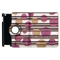Simple decorative pattern Apple iPad 3/4 Flip 360 Case