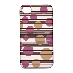Simple decorative pattern Apple iPhone 4/4S Hardshell Case with Stand