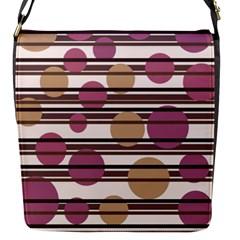 Simple decorative pattern Flap Messenger Bag (S)