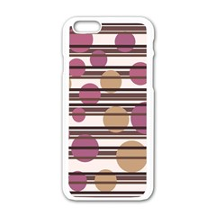 Simple decorative pattern Apple iPhone 6/6S White Enamel Case