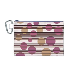 Simple decorative pattern Canvas Cosmetic Bag (M)