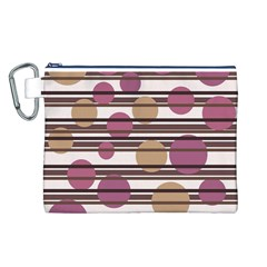 Simple decorative pattern Canvas Cosmetic Bag (L)