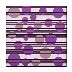 Purple simple pattern Tile Coasters