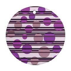 Purple simple pattern Ornament (Round)