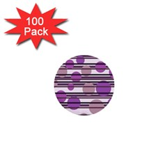 Purple simple pattern 1  Mini Buttons (100 pack)