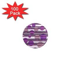 Purple simple pattern 1  Mini Magnets (100 pack)