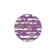 Purple simple pattern Golf Ball Marker (4 pack)