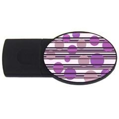 Purple simple pattern USB Flash Drive Oval (1 GB)
