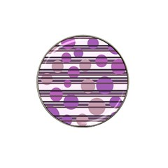 Purple simple pattern Hat Clip Ball Marker (4 pack)