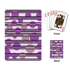 Purple simple pattern Playing Card