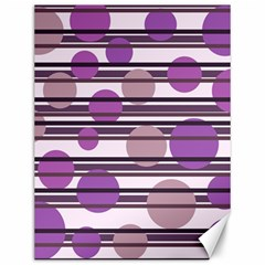 Purple simple pattern Canvas 12  x 16