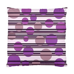 Purple simple pattern Standard Cushion Case (Two Sides)
