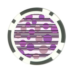 Purple simple pattern Poker Chip Card Guards (10 pack)