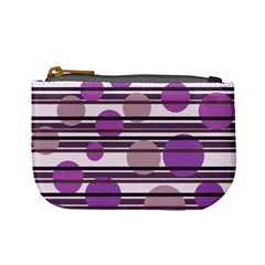 Purple simple pattern Mini Coin Purses
