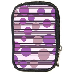 Purple simple pattern Compact Camera Cases