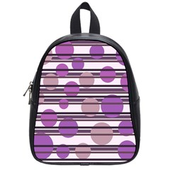 Purple simple pattern School Bags (Small)