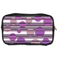 Purple simple pattern Toiletries Bags 2-Side
