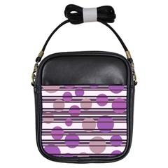 Purple simple pattern Girls Sling Bags