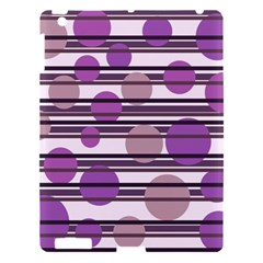 Purple simple pattern Apple iPad 3/4 Hardshell Case