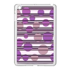 Purple simple pattern Apple iPad Mini Case (White)