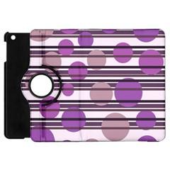Purple simple pattern Apple iPad Mini Flip 360 Case