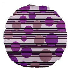 Purple simple pattern Large 18  Premium Round Cushions