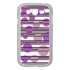 Purple simple pattern Samsung Galaxy Grand DUOS I9082 Case (White)