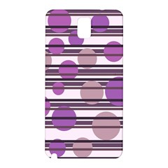 Purple simple pattern Samsung Galaxy Note 3 N9005 Hardshell Back Case