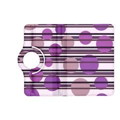 Purple simple pattern Kindle Fire HD (2013) Flip 360 Case