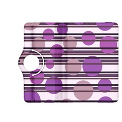 Purple simple pattern Kindle Fire HDX 8.9  Flip 360 Case