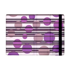 Purple simple pattern iPad Mini 2 Flip Cases