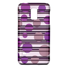 Purple simple pattern Galaxy S5 Mini