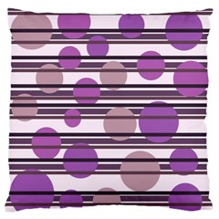 Purple simple pattern Large Flano Cushion Case (Two Sides)