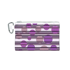Purple simple pattern Canvas Cosmetic Bag (S)