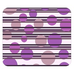Purple simple pattern Double Sided Flano Blanket (Small)