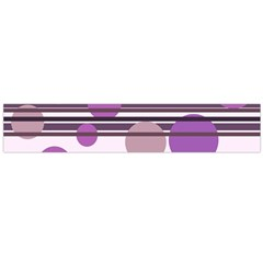 Purple simple pattern Flano Scarf (Large)