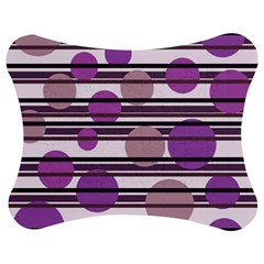 Purple simple pattern Jigsaw Puzzle Photo Stand (Bow)