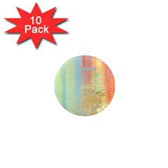Unique abstract in green, blue, orange, gold 1  Mini Magnet (10 pack)
