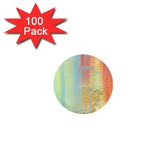 Unique abstract in green, blue, orange, gold 1  Mini Buttons (100 pack)