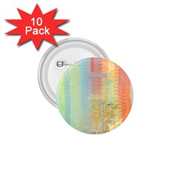 Unique abstract in green, blue, orange, gold 1.75  Buttons (10 pack)