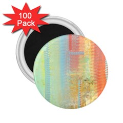 Unique abstract in green, blue, orange, gold 2.25  Magnets (100 pack)