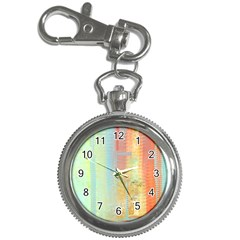Unique abstract in green, blue, orange, gold Key Chain Watches