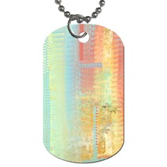Unique abstract in green, blue, orange, gold Dog Tag (One Side)