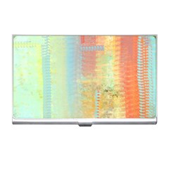 Unique abstract in green, blue, orange, gold Business Card Holders