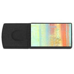 Unique abstract in green, blue, orange, gold USB Flash Drive Rectangular (4 GB)