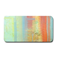 Unique abstract in green, blue, orange, gold Medium Bar Mats