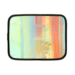 Unique abstract in green, blue, orange, gold Netbook Case (Small)