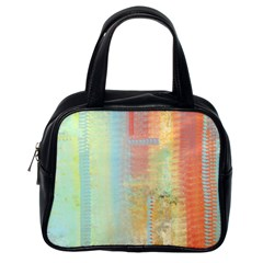 Unique abstract in green, blue, orange, gold Classic Handbags (One Side)