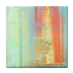 Unique abstract in green, blue, orange, gold Face Towel